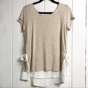 Anthropologie Pebble and Stone Layered T- Shirt